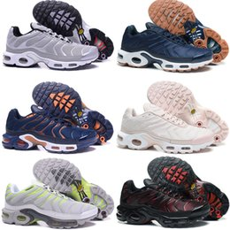 Wholesale Cheap Plus Tops - 2018 New Top Cheap TN Air Mens Running Shoes Air Plus TN Ultra Sports TN Requin Sneakers Running shoes 40-46