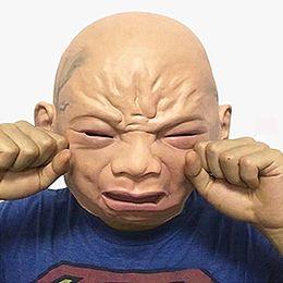 Toptan-Prop Ürpertici Cry Bebek Maskesi Lateks Kauçuk Masquerade Maske Komik Parti Cadılar Bayramı Yüz Maskeleri Kostüm Sahne MK280 nereden ağla maske tedarikçiler