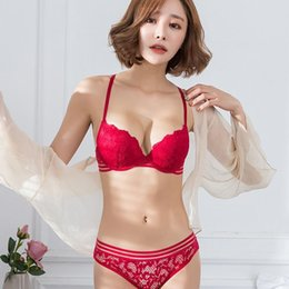 01ecfac457230 sexy intimates young girls sexy lace bra with love transparent panties push  up gather female underwear sets Beauty back pack