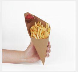 Canada Papier Kraft Français Pommes De Frites Boîte Cone Preuve De L'huile Sac de Jetons Jetons Jetons Coupe Partie À Emporter Paquet Alimentaire Offre