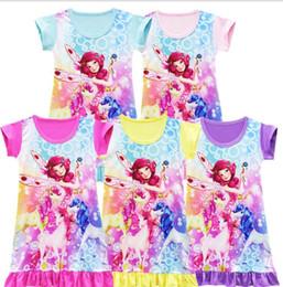 Wholesale kids pajamas wholesale - Summer Girls Dress Mia Me Costumes Kids Dress For Girls Princess Dresses Mia Cosplay Costumes Halloween Mia And Me Pajamas dresses KKA4997