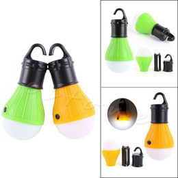 Wholesale Long Tent - YAM Yellow Green Long Lifespan Emergency Lamp Tent Light Lantern 3x LED Portable +Hook Outdoor Camping Hiking
