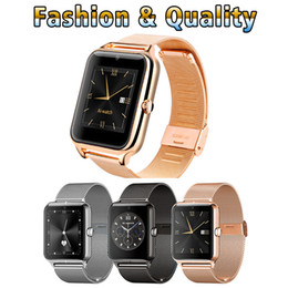 Wholesale fashion russian style - Smart Watch Z50 New Style Bluetooth fashion Mini Camera Smart Watches stand by GSM SIM Card Touch Screen For Android ios