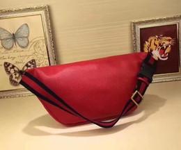 Wholesale Red White Pillows - Women genuine leather waist bag luxury brand designer belt bag men fanny pack small graffiti belly bags men waist pack pouch bag top quality