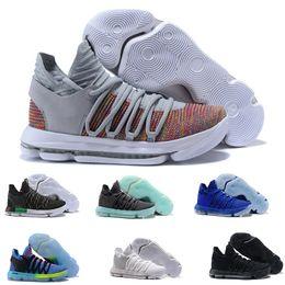 zapatos de baloncesto kevin durant Rebajas Nuevo Hombre Kevin Durant 10 X Confeti Multicolor Limitado Zapatillas de baloncesto KD Tía Pearl Rainbow Colorway China Town zapatillas deportivas TAMAÑO 7-12