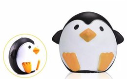 Wholesale good penguin - Squishy Penguin 11cm Slow Rising Toy Decompression Bread Relieve Stress Cake Sweet Animal Cell Phone Strap Phone Pendant Key Chain Toy Good