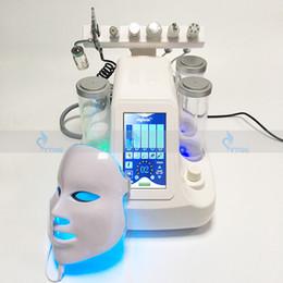 Wholesale Hydra Face - 7in1 SPA BIO RF Face lift Machine Skin Treatment Hydra water dermabrasion Oxygen Spray Skin Care LED Mask Beauty Equipment Ultrasonic