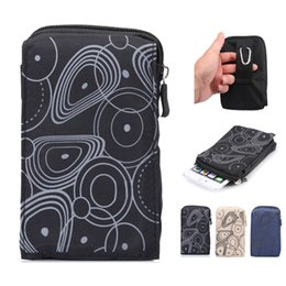 Wholesale Camping Wallets - Universal Outdoor Waist Bag Holster Portable Hiking Camping Bag Cellphone Pouch Wallet Purse Cover For Samsung S9 S8 iPhone X 8 7