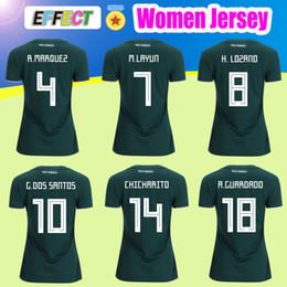 Wholesale Army Girl - Women Mexico soccer Jersey 2018 Girl World Cup CHICHARITO home G.DOS SANTOS O.PERALTA H.LOZANO R.MARQUEZ Soccer Full Shirts uniform