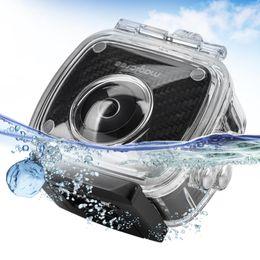 sjcam hd dv Desconto Freeshipping 8MP HD Dual Lens de 360 Graus Câmera Panorâmica Esporte Action Video Camera e Câmera À Prova D 'Água Caso Acessórios