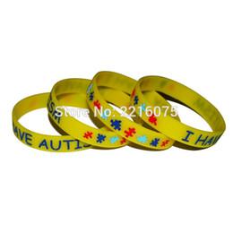 alarm armbänder Rabatt 50pcs Medical Alert Ich habe Autismus Wristband Silikon Armbänder versandkostenfrei