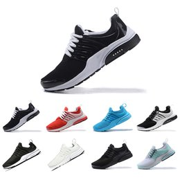 Wholesale fine online - hot sale Running Shoes Fine Mesh Breathable Presto Blackout Cheap Sneaker Red Navy Blue Triple White Black Fall Olive air factory online run