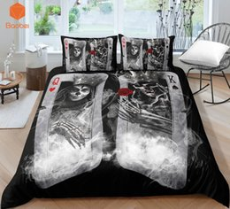 3d quilts covers king size Promo Codes - 3Pcs 3D Skull Playing cards QK Bedding Set With Pillowcases Duvet Cover Quilt Cover For Kids Queen King Sizes Bedspreads Sj234