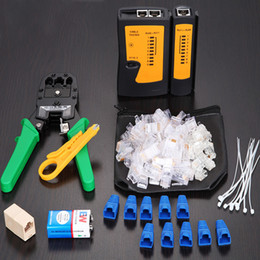 Wholesale Crimp Connector Kit - VONETS 10x Network Crimper Utp Cable Tester Tracker Connector Wire Wiring Stripper RJ45 RJ11 RJ 45 11 LAN Crimping Tool Set Kit