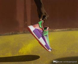 Wholesale Tied Table - New Pharrell Williams HU HOLI NMD MC TIE-DYE Human Race Real Boost Purple Green Pink Sanskrit Sports Sneakers Men Running Shoes Ac7034