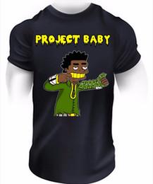 2019 projet de tête Project Baby Kodak Noir T-Shirt Hip-Hop Sniper Gang Rap Piège à Musique Tee Top 100% Coton T-shirts Pour Homme promotion projet de tête