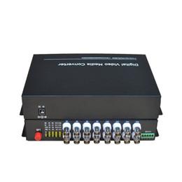Одиночный режим приемника передатчика конвертеров -16 BNC средств волокна 16 ch видео-оптически одиночный 20Km для системы охраны CCTV от