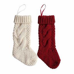 Canada Imixlot Bas De Noël Tricoté Cadeau De Noël Sac De Stockage Ornements Femmes Filles Chaussettes Cadeau Bonbons Sac supplier knitted ornaments Offre