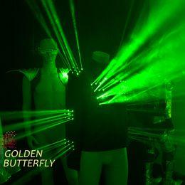 Эффектные световые эффекты онлайн-Светодиодная лазерная одежда Свет будущего Эффект робота 2017 новых мужчин Светящаяся лазерная одежда Механическая танцевальная одежда cool Show