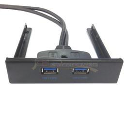 compartimiento de disco Rebajas Placa base de 50cm a USB 3.0 Panel frontal de dos puertos para 3 5