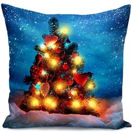 diseño de iluminación de navidad Rebajas Nuevo diseño Christmas Plush LED Light Cushion Cover Christmas Theme ELK Letters Pillowslip Cómodo para la decoración del dormitorio Funda de almohada