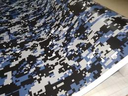 Autocollants de corps de moteur en Ligne-Impressionnant numérique bleu petit imprimé Camo Vinyl pour wrap de voiture avec bulle d'air Free Printed Camouflage Motor Car emballage autocollants 1.52x30m