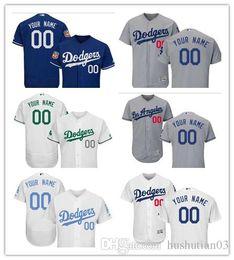 Wholesale Los Dodgers - custom Men's Majestic Los Angeles Dodgers #00 Your Name Authentic Royal Blue Team Logo Fashion Cool Base Jersey