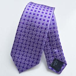 2019 enge krawattenbreite Erwachsene Kinder Studenten Skinny Lila Tie Plaid Herren Krawatten mit kleinen Punkten Krawatte Schmal Jacquard gewebte Gravatas Schlank 6cm Breite rabatt enge krawattenbreite