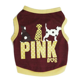 Wholesale Classic Hot Dog - Leisure English Letter Pink Printing Dog Cloth Super Comfortable Small Pets Vest For Spring Autumn Wear Puppy Apparel Hot Sale 6 18cy Z