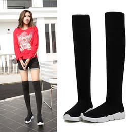 botas de inverno longas Desconto Novas mulheres designer de coxa botas altas magro longo botas mujer outono inverno sobre o joelho meias botas mulheres cunhas bota feminina y702