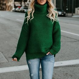 89b28fade0 Pullover Women s Turtleneck Sweater Female Jumper Women Warm Loose Sweater  thick Winter Cable Knitted Oversized Sweaters Z4
