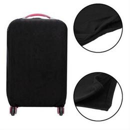 Funda de equipaje elástica online-Viaje caliente de alta elasticidad de color sólido a prueba de polvo maleta cubierta protectora cubierta de protección del polvo zapato cubierta de polvo diseño de moda