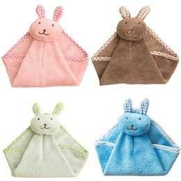 Wholesale Used Head Lights - Cartoon Animal Cute Rabbit Head Hanging Cloth Soft Dishcloths Hand Towel for Home Kitchen Bathroom Use P20