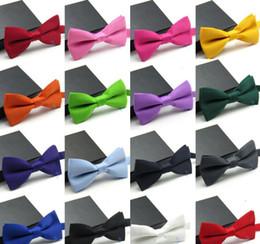 Design bowtie online-grandi bambini Bowtie Fashion Wedding Party Tie di colore solido Bow Plain Cravatta 30 design papillon KKA5680