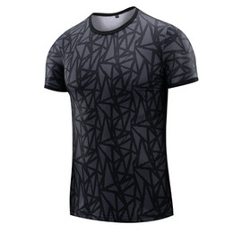 Wholesale cheap athletic shirts - Cheap Price Top Quality Elasticity Men's Athletic T-Shirt Workout Sports Tech Short Sleeve Gym Slim Fit Training Clothes for men