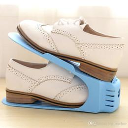 Porta zapatos que ahorra espacio online-Zapatero Rack Keeper Organizador de la zapatilla de deporte Soporte Estante Hogar Ahorro de espacio 2017 Nueva venta DHL XL-321 gratis