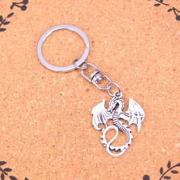 Discount men dragon pendant - New Design dragon loong Keychain Car Key Chain Key Ring silver pendant For Man Women Gift1
