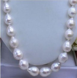 Canada NOUVEAU COLLIER DORE 18 ANS 11-13MM AKOYA AAA REAL BLANC BAROQUE GOLD cheap akoya pearl necklace 18 inch Offre