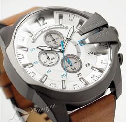 Wholesale Big Analog Clock - DZ quartz watch luxury fashion men's sports watch 52MM Big dial male atmos clock For Man military Montre homme Relogio leather invicta watch