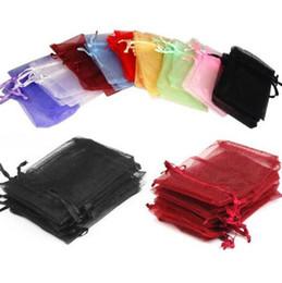 joyas de seda bordada Rebajas Bolsa de malla bolsa de hilo perla de organza bolsa de hilo de color sólido regalo de organza embalaje de regalo de moda creativa embalaje