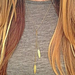 Wholesale two girls necklace - Lovely Young Girl Necklace Designed Natural Gold \u002FSilver Color Two Green Leaf