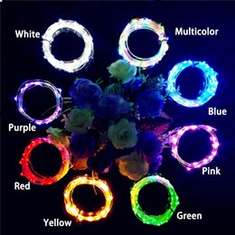 Luces de cadena frescas online-Cool 2M LED Garland Alambre de cobre Corker String Fairy Lights para Glass Craft Bottle Año Nuevo / Navidad / San Valentín Decoración de boda