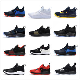 Wholesale top high cut sneakers - 2018 High quality Paul George 2 PG II Basketball Shoes for Cheap top PG2 2S Starry Blue Orange All White Black Sports Sneakers Size 40-46