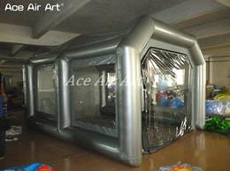 Spray mobile online-vernice auto a buon mercato cabina gonfiabile / portatile auto pittura stazione di lavoro mobile in vendita