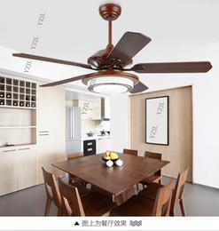 Vintage deckenventilatoren online-Neue chinesische Decke Kronleuchter Fan minimalistischen Schlafzimmer Decke Kronleuchter Fan LED mit Fernbedienung Antik Vintage