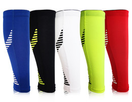 Wholesale calf shin support - Running Leg Compression Sleeves Calf Non-slip Breathable Tennis Football Shin Guards Sports Safety Fitness Support FBA Drop Shipping H406F