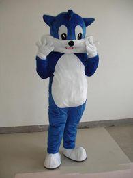trajes de mascote de tamanho infantil Desconto 2018 de alta qualidade quente adulto tamanho dos desenhos animados do gato azul traje da mascote do vestido extravagante crianças festa cat rabbit halloween chirastmas festa