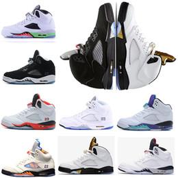 Свободный язык онлайн-Оптовый новый ботинок людей 5 V олимпийского золота красный замши отражения баскетбола ботинок 5s тройной голубой ботинок ботинок свободной перевозкы груза