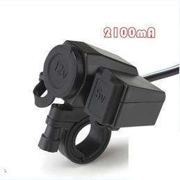 Wholesale 12v Socket Motorcycle - USB Waterproof Socket Motorbike Motorcycle Mobile Phone Charger 12V Cigarette Lighter USB 5V 2.1A