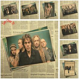 LUI Bande Classique Nostalgique Mat Kraft Papier Affiche Bureau Cadeau Chambre Salle À Manger Décor À La Maison sticker mural Conception ? partir de fabricateur